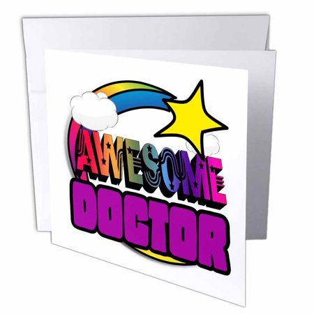 3drose shooting star rainbow awesome doctor greeting cards 6 x 6 3drose shooting star rainbow awesome doctor greeting cards 6 x 6 inches set m4hsunfo