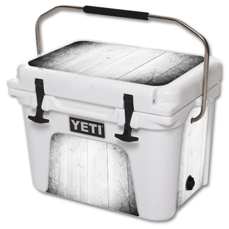 MightySkins Protective Vinyl Skin Decal for YETI Roadie 20 qt Cooler wrap cover sticker skins White