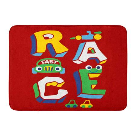 YUSDECOR Racer Baby 3D Race Design Apparel Graphic Cute Automobile Rug Doormat Bath Mat 23.6x15.7 inch - image 1 of 1