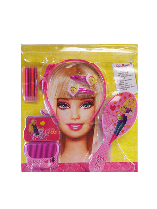 Barbie Hair Accessory Set shampoo Includes hair dryer,hair straightener