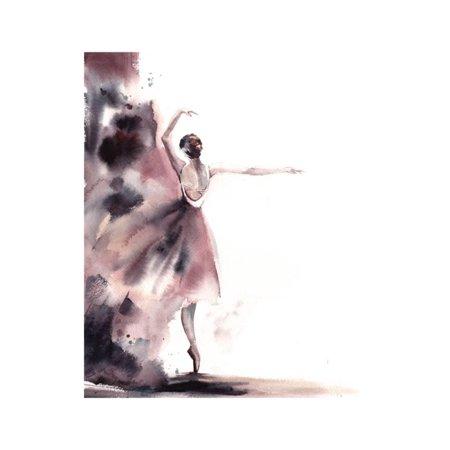 Ballerina Bliss I Figurative Women Ballet Dancer Art Print Wall Art By Sophia Rodionov