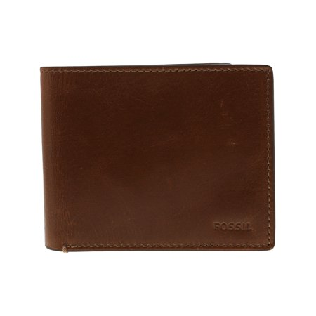 Fossil Men's Hugh Rfid Flip Id Bifold Leather Wallet -