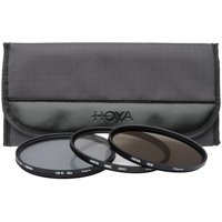 Hoya 72mm II (HMC UV / Circular Polarizer / ND8) 3 Digital Filter Set with Pouch
