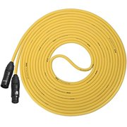 LyxPro Balanced XLR Cable 15 ft Premium Series Professional Microphone Cable, Powered Speakers and Other Pro Devices Cable, Yellow