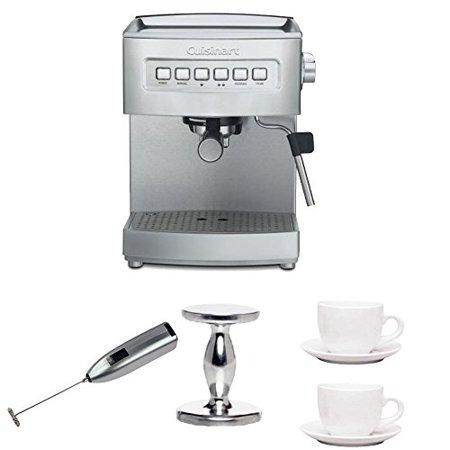 Cuisinart Em 200fr Stainless Steel Programmable 15 Bar Espresso Maker W Accessory Bundle