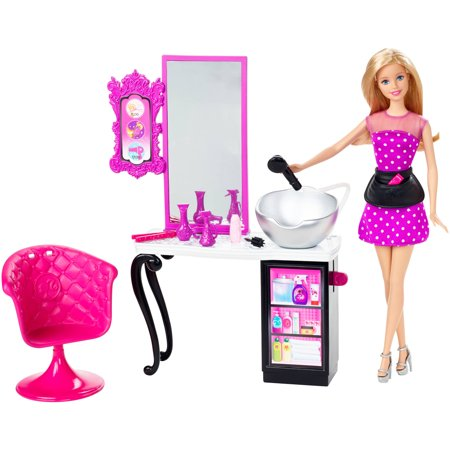 Barbie malibu ave salon with doll for Achat salon de coiffure