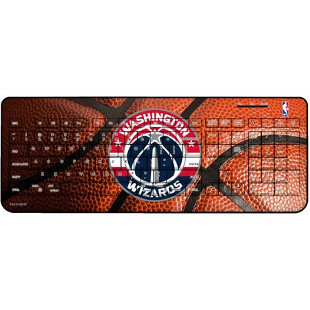 Washington Wizards Basketball Design Wireless USB Keyboard by Keyscaper by