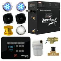 Steamspa Bkt900-A Black Series Bluetooth 9Kw Quickstart Steam Bath Generator Pac