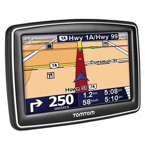 "TomTom XL 340S 4.3"" Touchscreen Portable GPS System w/USA, Canada & Mexico Maps (Black/Silver) - Refurbished"