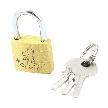 Gate Padlock (Family Office Door Solid Chain Gate Lock Brass Padlock w 3 Keys )
