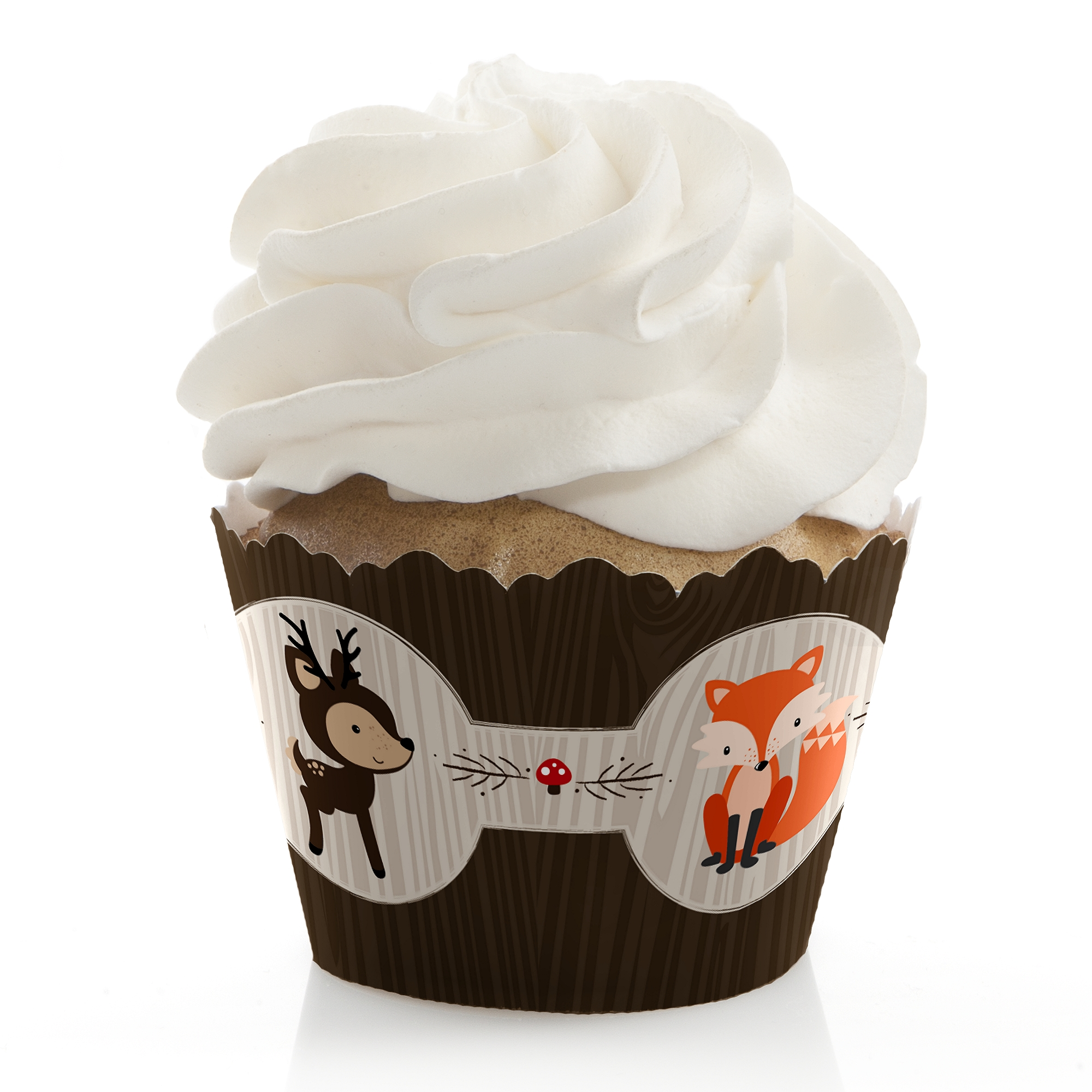 Woodland Creatures - Baby Shower or Birthday Party Cupcake Wrappers - Set of 12