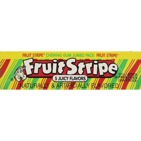 Fruit Chill Gum (Fruit Stripes Christmas Gum (Pack of 4))