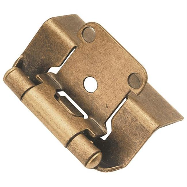 Hickory Hardware P5710F-AB Antique Brass Semi-Concealed Full Wrap Hinge 2-Pack
