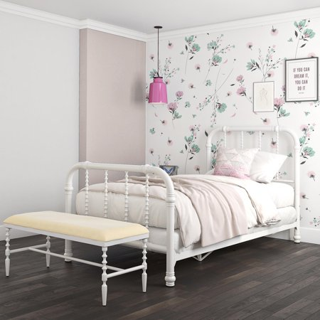 DHP Jenny Lind Metal Bed, Multiple Sizes, Multiple Colors ()