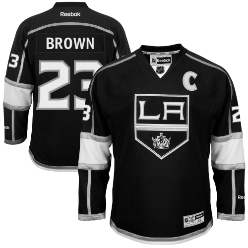 Dustin Brown Los Angeles Kings Reebok Youth Name and Number Premier Hockey Jersey Black by Outerstuff