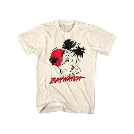 Baywatch 90's Drama Beach Patrol Lifeguard Sketch Adult T-Shirt Tee