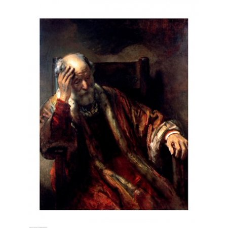 An Old Man in an Armchair Poster Print by Rembrandt van Rijn