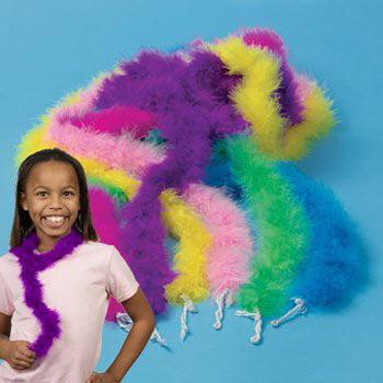 Mini Maraboou Feather Boas Halloween Costume Dress up Party 12
