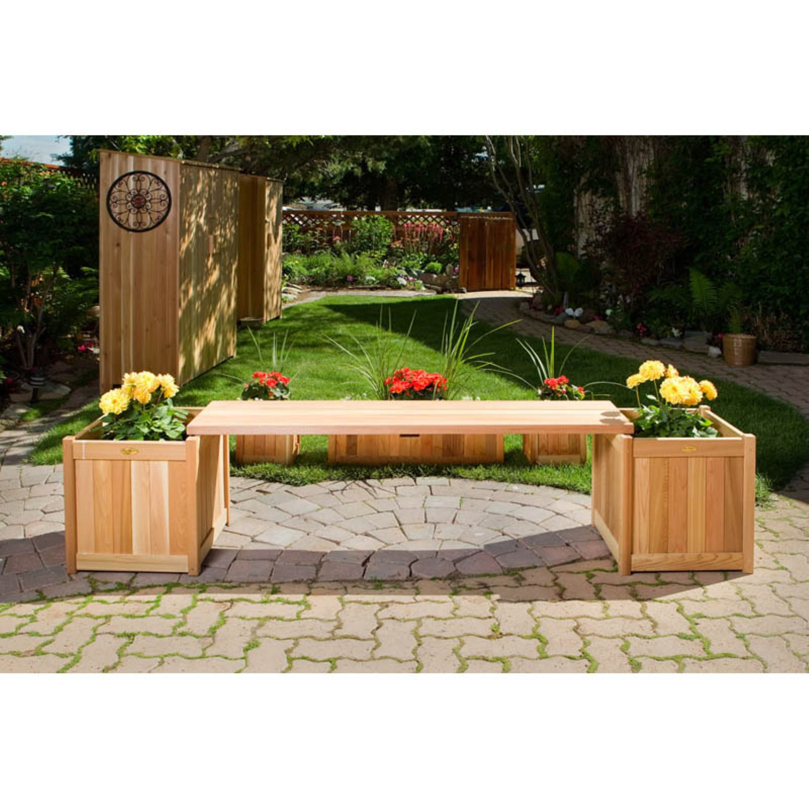 All Things Cedar 3-pc. Planter Bench Set