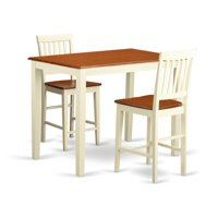 East West Furniture Yarmouth 3 Piece Slat Back Dining Table Set