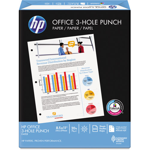 HP Office Paper, 92 Brightness, 20lb, White