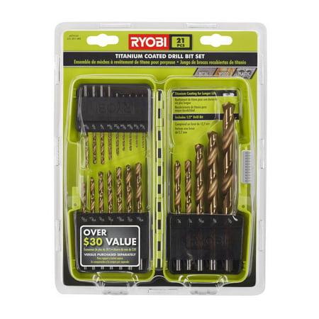 Ryobi Titanium Coated Drill Bit Set 21-Piece A972102