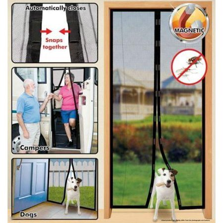 Felji Instant Mesh Screen Door Magnetic Hands Free Bug Mosquito Fly