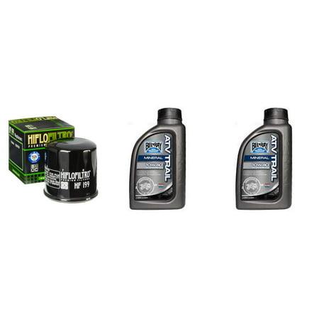 Complete Mineral Engine Oil 10W-40 Change Kit for ATV POLARIS 550 ...