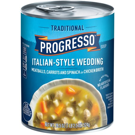 progresso traditional italian style wedding soup 185 oz