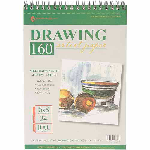 "Global Art Drawing Pad, 6"" x 8"""