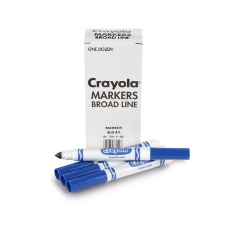 Crayola 12 Count Original Bulk Markers, Blue - image 2 de 2