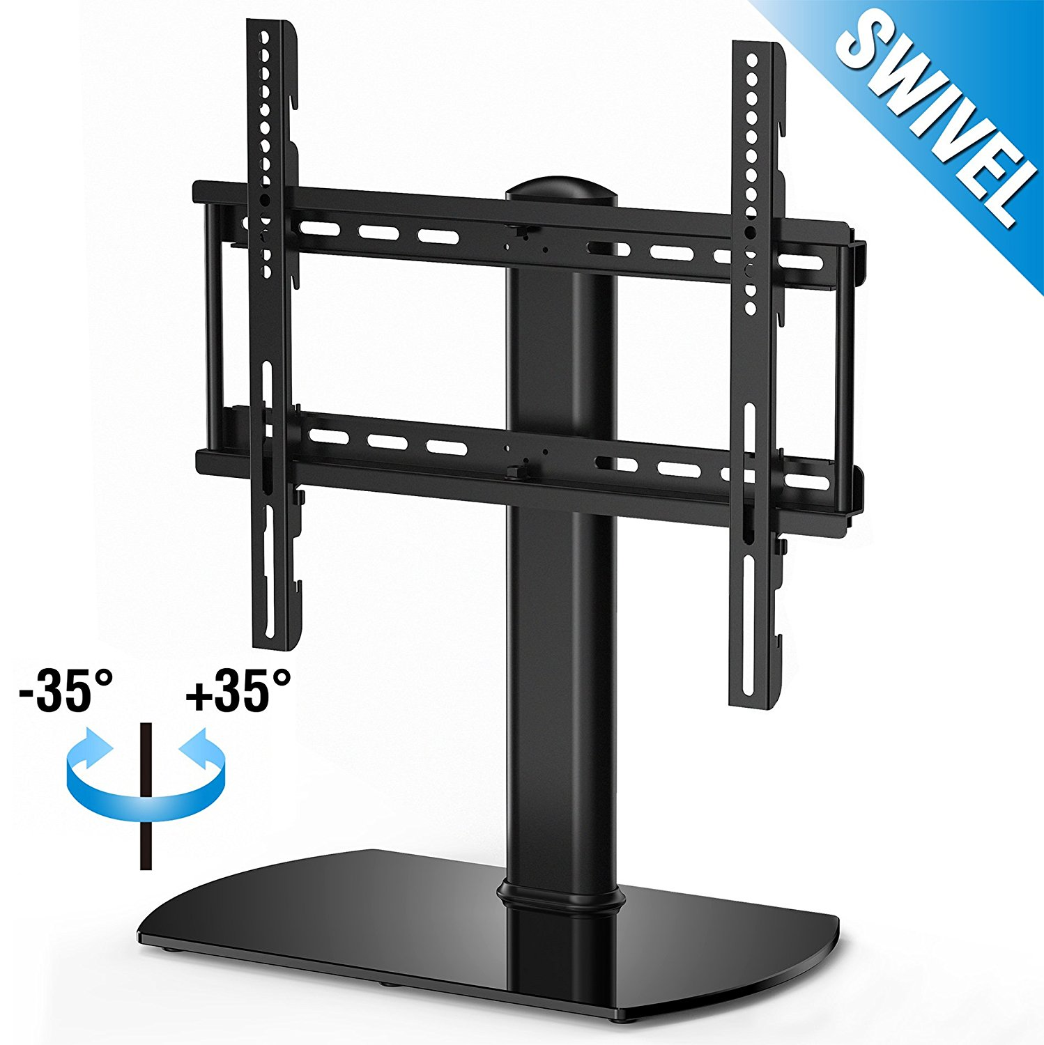 FITUEYES Tabletop TV Stand with Swivel Mount for 32 37 40 42 45 50 inch Tv TT104501GBF