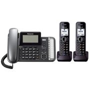 Panasonic KX-TG9582B DECT 6.0 2-Line Operation 3 Handset Phone System w/ Link2Cell & Noise Reduction
