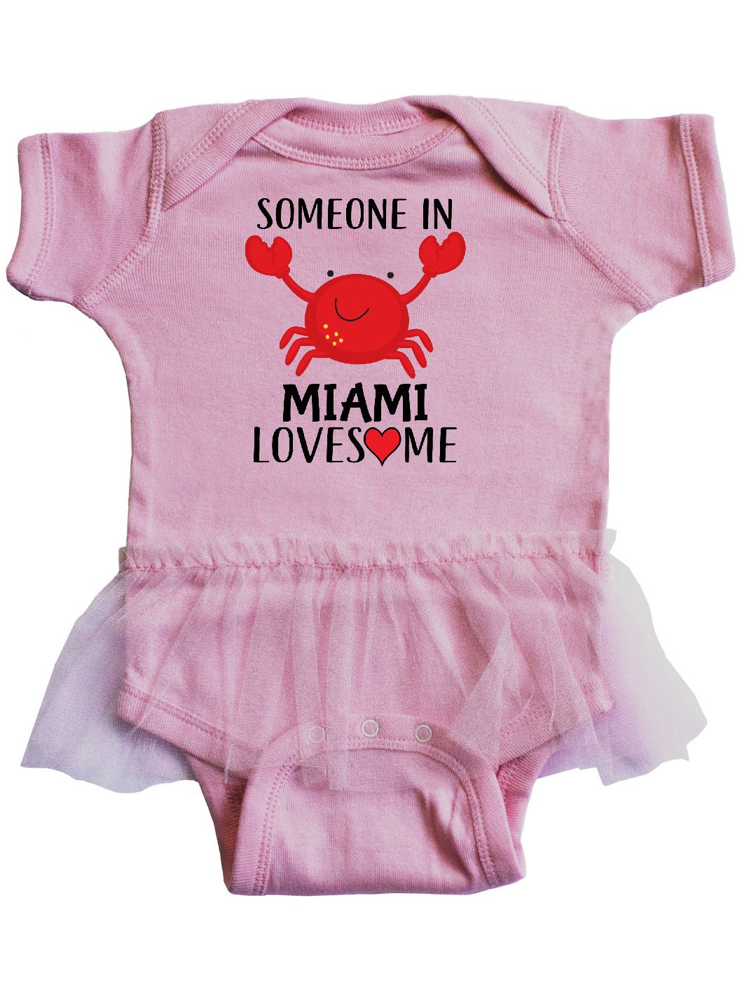 inktastic Someone in Miami Loves Me Infant Tutu Bodysuit