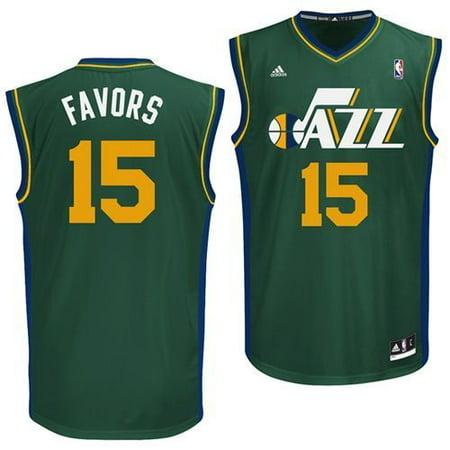 Utah Jazz Derrick Favors #15 Alternate Replica Jersey (Green) by