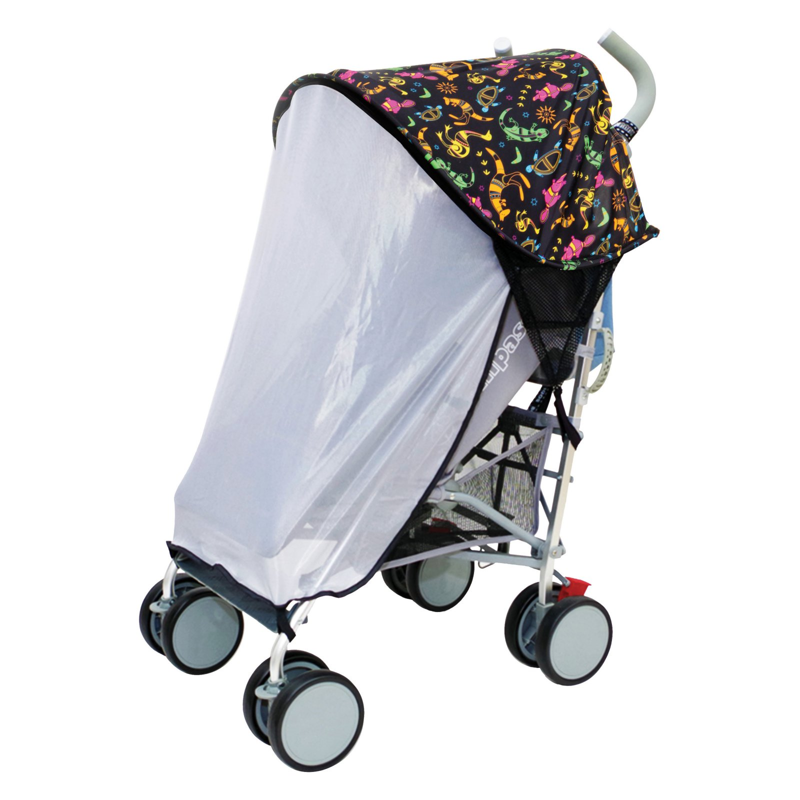 Dreambaby Strollerbuddy Extrenda-Shade with Insect Netting, Print