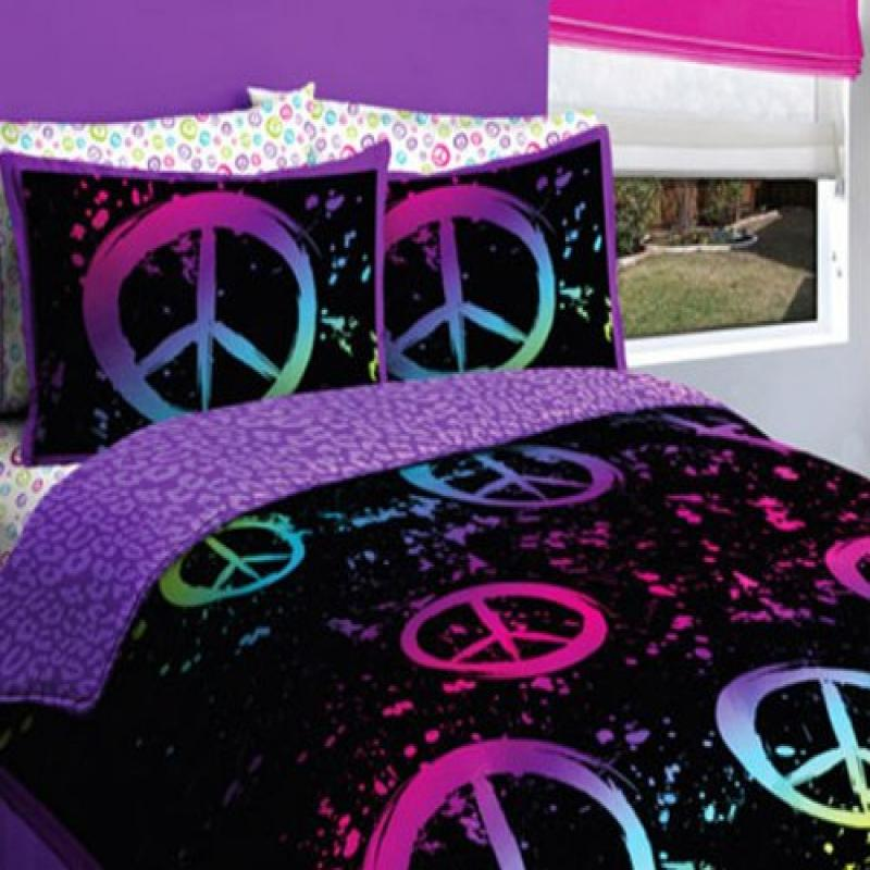 Kreative Kids Black Purple Pink Peace Sign Queen Girls Co...