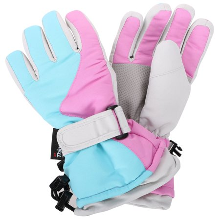 Teenagers Girls Thinsulate Lined Waterproof Snowboard Mittens Ski Glove, S