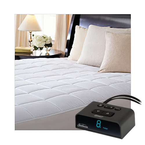 Sunbeam MSU4BXS-D000-43A66 ComfortTec Quilted Heated Electric Mattress Pad