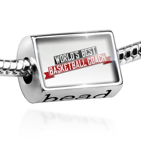 Bead Worlds Best Basketball Coach Charm Fits All European (Best Basketball Coaches Of All Time)