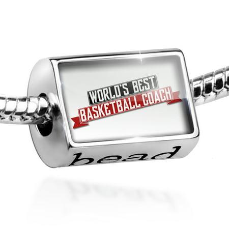 Bead Worlds Best Basketball Coach Charm Fits All European