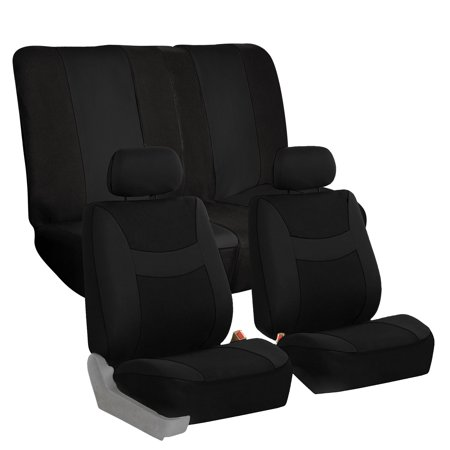 FH Group, 6 Colors Car Seat Covers for Car SUV Van Split Bench Full Interior Full Interior Set