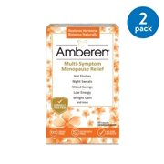 (2 Pack) Amberen, Multi-Symptom Menopause Relief Capsules, 60 count