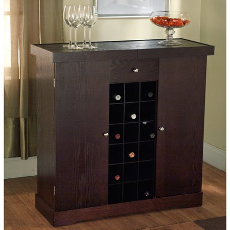 Wine Cabinet Multiple Finishes Walmart Com