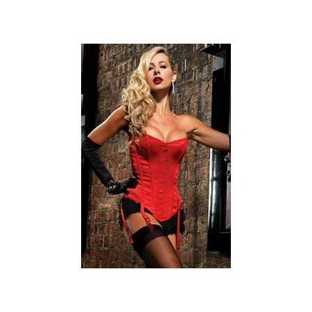 Las Vegas Showgirl Costume (Leg Avenue Women's Showgirl Premium Corset, Red,)