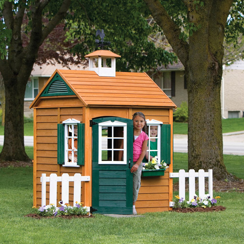 Big Backyard Bayberry Ready-to-Assemble Wooden Playhouse by Generic