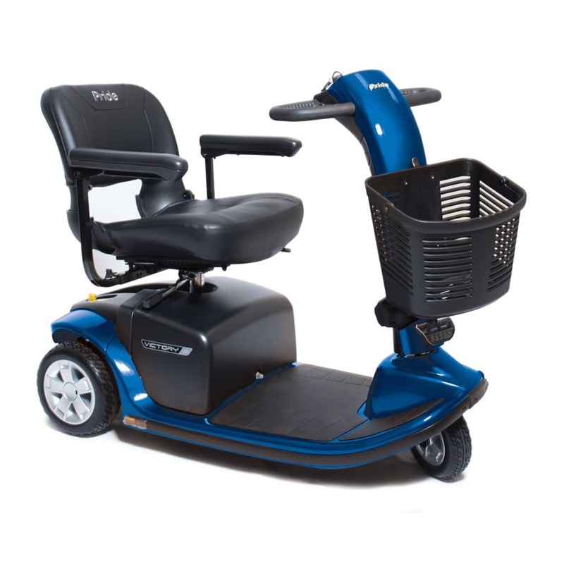 Pride Mobility - Victory 9 - Mid-Sized Scooter - 3-Wheel - Viper Blue