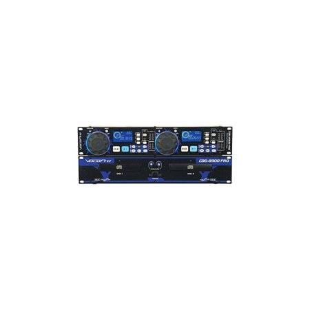 VocoPro CDG8900PRO Professional Dual Tray CD-CDG Player ()