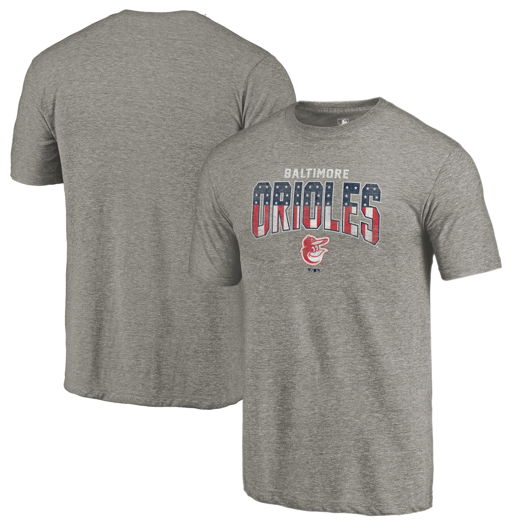 Baltimore Orioles Fanatics Branded 2018 Stars & Stripes Freedom Tri-Blend T-Shirt - Gray