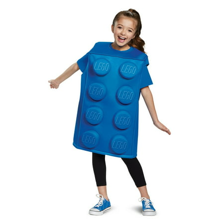 Lego Blue Brick Classic Child Costume](Girl Lego Costume)